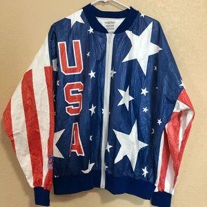 Vintage XL USA Olympics Zip Up Jacket America